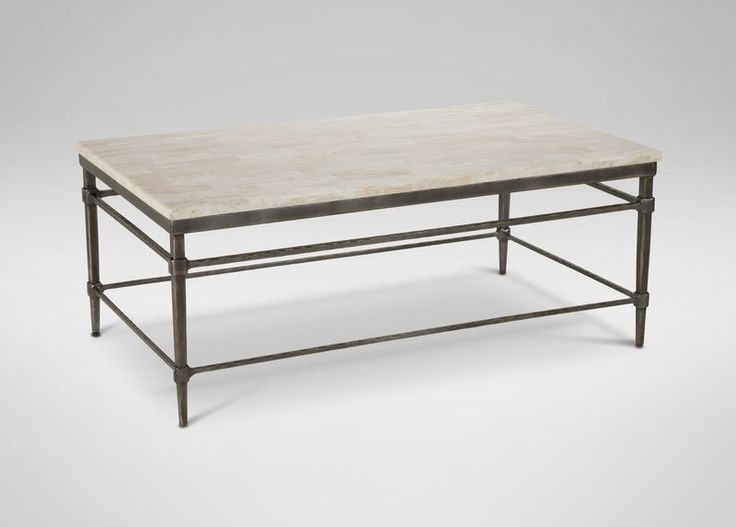 Vida Stone-Top Coffee Table 58 x 26