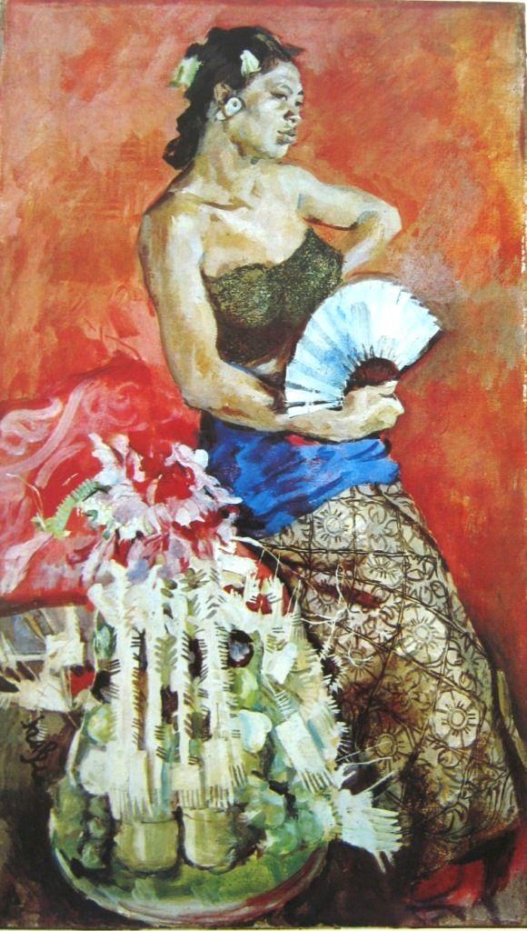Rolland Strasser - Gadis Bali memegang kipas