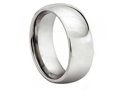 *** LASER ENGRAVING SERVICE *** 7MM Cobalt Chrome COMFORT FIT Plain High Polish Polished Finish Wedding Ring Band for Men (Sizes 8 to 12): Jewelry: Amazon.com