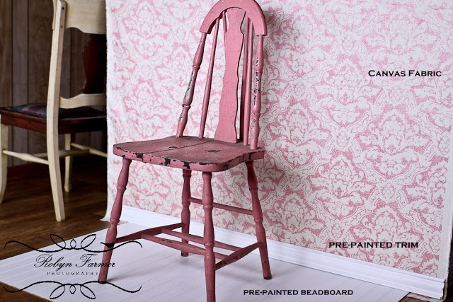 Clever trick to photograph your DIY furniture in a fake room that looks real. From The Farmer's Nest.