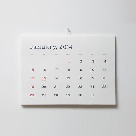 葛西薫カレンダー 2014