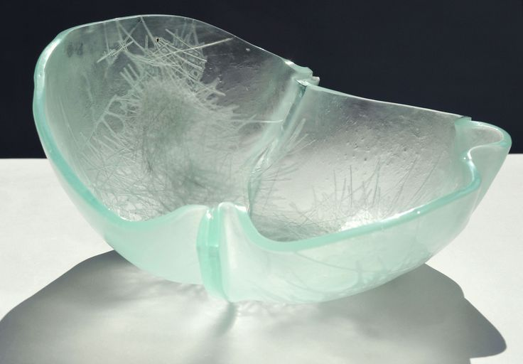 Glass bowl - Glass fiber sealed in glass