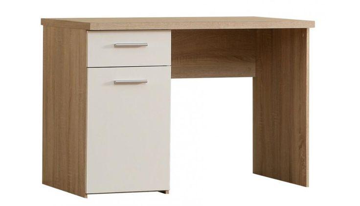 Schreibtisch Ida passend zum Kinder- und Jugendprogramm Ida 1 x Schreibtisch mit 1 Türe und 1 Schubkasten Schubkästen auf Metalllaufleisten Metallbeschläge... #schreibtisch #kinder #jugendzimmer