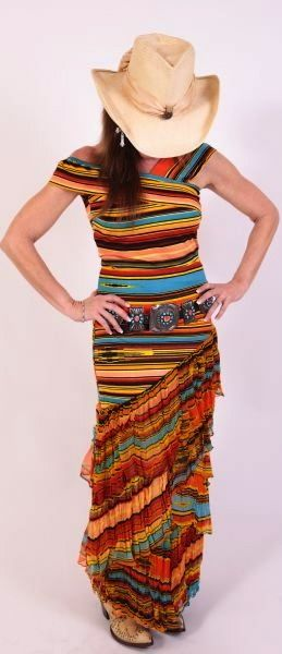 serape dress. I'm sure I couldn't wear this, but oh so cool!