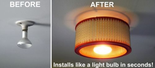 Ceiling-Light-Auto-Air-Filter-Shade-for-Garage-Basement-Man-Cave-Just-Screw-In