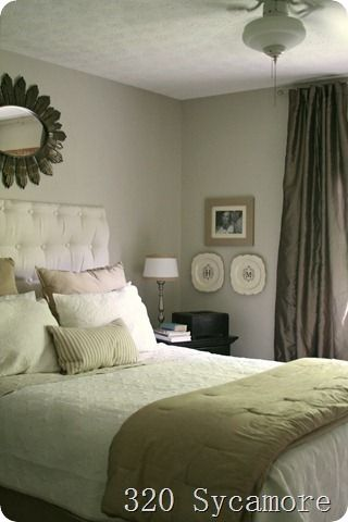 website that shows rooms with different wall paint colors and tells you what brand they are + the name of the color-- super helpful!: Guest Room, Decor Ideas, 320 Sycamore, Masterbedroom, Paint Colors, Master Bedrooms, Bedroom Makeover, Bedroom Ideas
