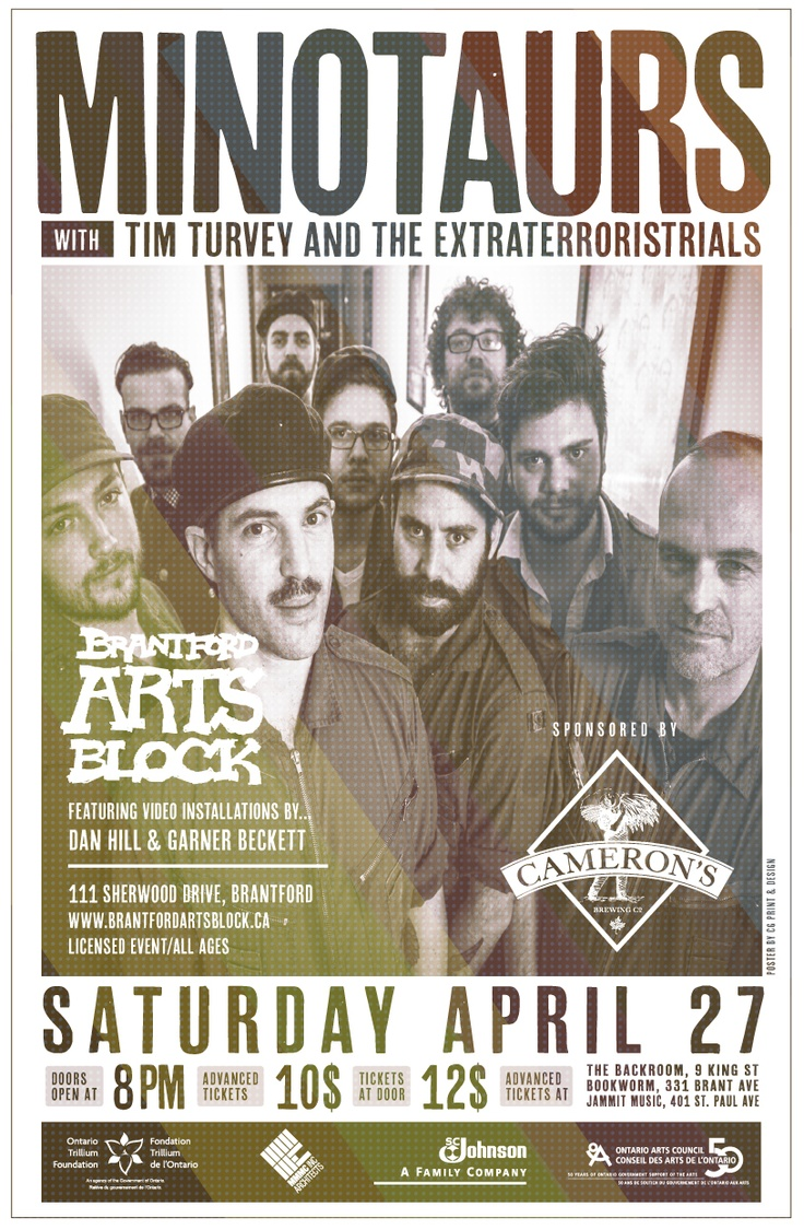 Minotaurs and Tim Turvey and the Extraterroristrials - Saturday, April 27th, 2013 - $10 in advance/$12 at door