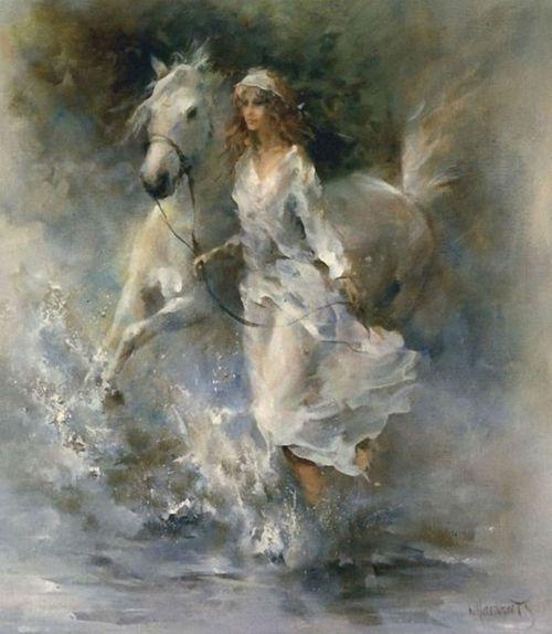Artiste painter Netherlands. Willem Haenraets Romantic and dance painting