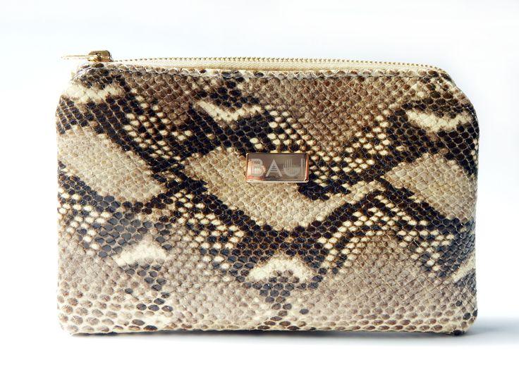 Bagi, skórzana kosmetyczka z motywem węża BAGI od BAGI