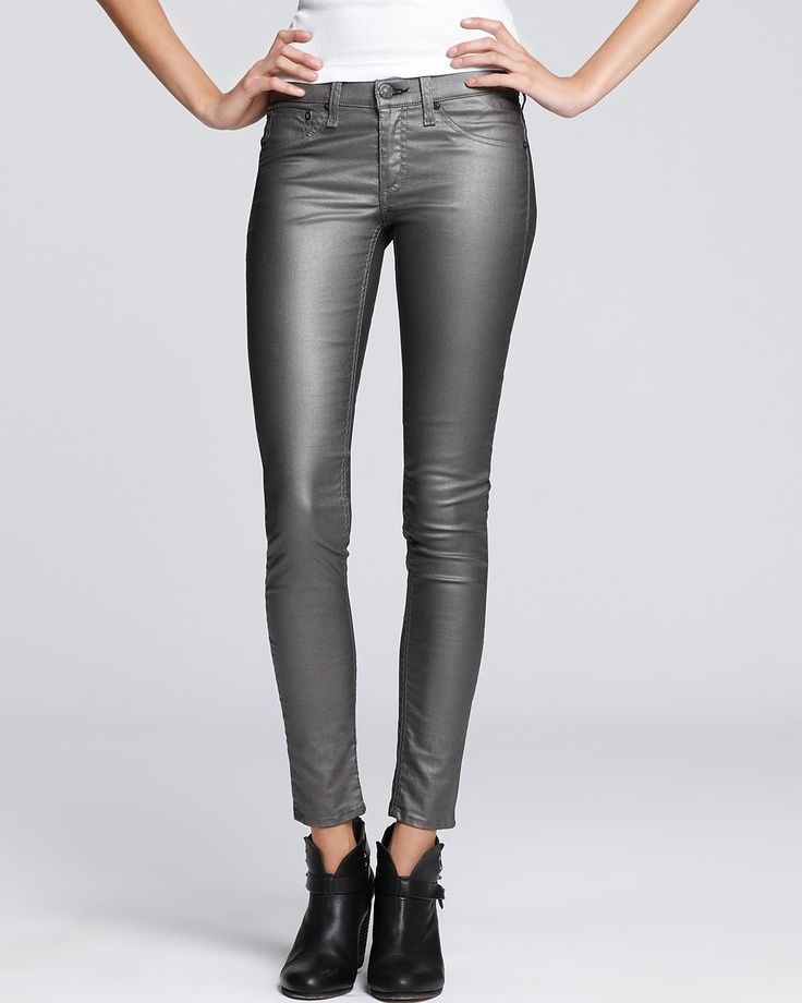 rag & bone/JEAN Denim Leggings - The Mid-Rise Metallic | Bloomingdale's