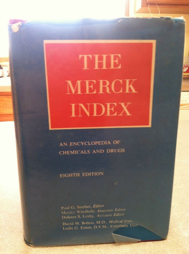 The Merck Index Eighth Edition 1968 Encyclopedia Book