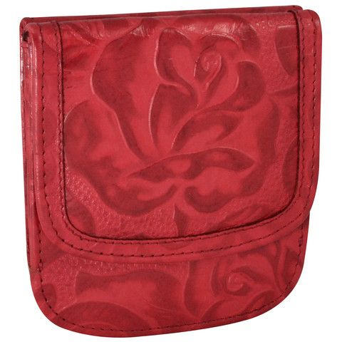 Tooled red leather Taxi Wallet from Alicia Klein!