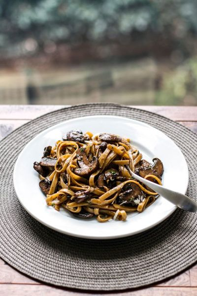 Balsamic Mushroom Pasta | girlgonegourmet.com