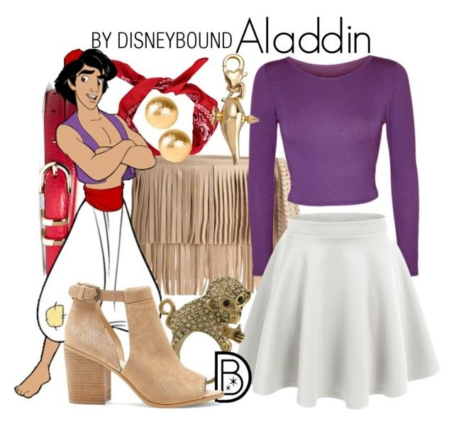 """""""Aladdin"""" by leslieakay ❤ liked on Polyvore featuring B-Low the Belt, Brooks Brothers, WearAll, LE3NO, Miso, Disney, Snö Of Sweden, Sole Society, disney and disneybound"""