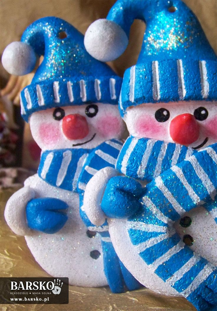 Salt Dough Little Snowmen