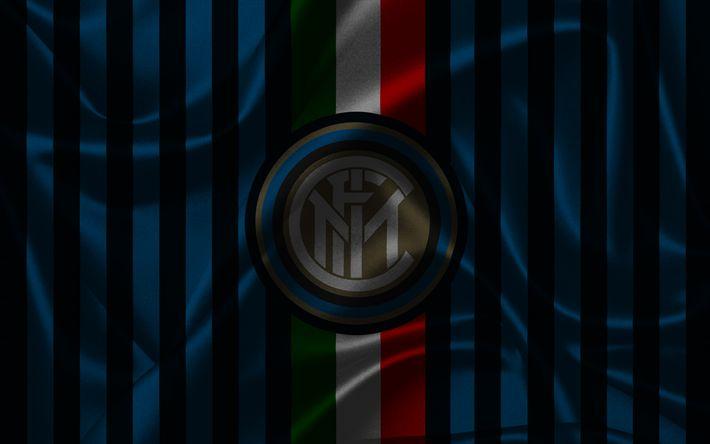 Télécharger fonds d'écran L'Inter Milan, le football, Internazionale, Serie A, le club de football, l'Italie, la nouvelle Inter emblème, logo