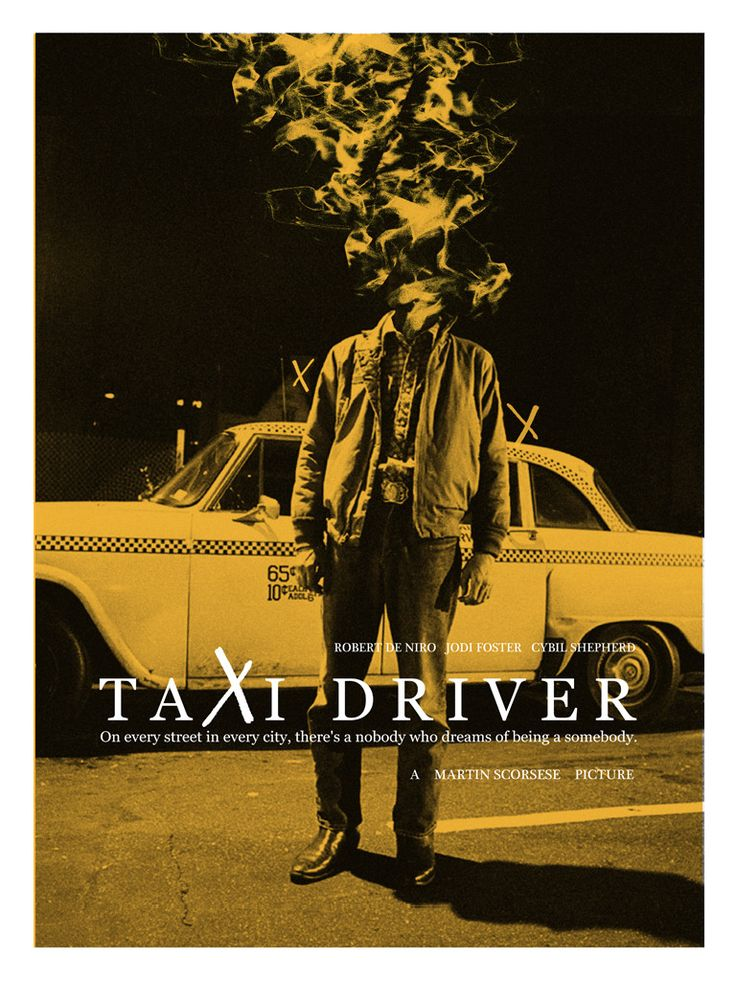 "Adam Juresko - ""Taxi Driver"" limited edition screen print (100) 18"" x 24"""