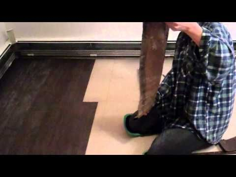 Paper Bag Flooring- How to lay paper bag floor- wood plank style. http://paperbagflooring.com - YouTube