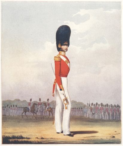 """NEVILL, Ralph Henry. Officer, Grenadier Guards.  Original book plate Illustration as published in Ralph Nevill's """"British Military Prints,"""" 1909. #troopingthecolour"""