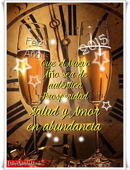 Dos copas para brindar por el Nuevo Año 2015, los mejores deseos de nuestro corazón deben realizarse con anticipación, que no falte jamás ese brindis con l