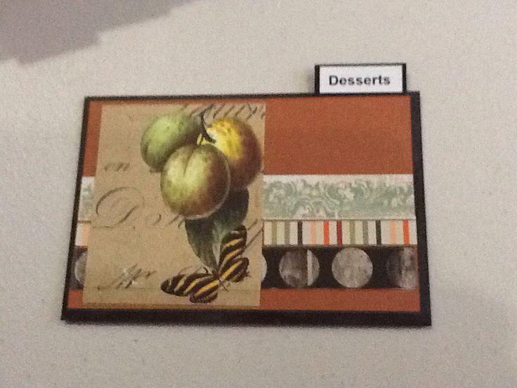 Recipe box card