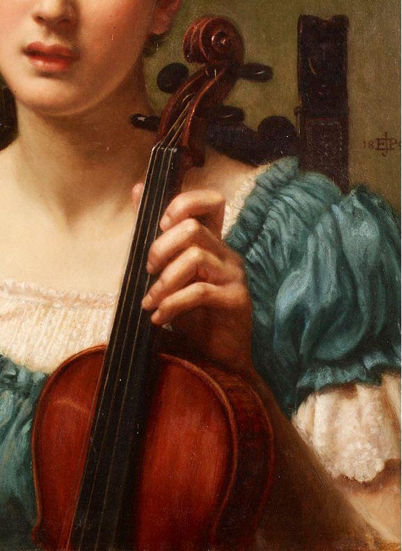 The Violinist,1891 (detail) Sir Edward John Poynter