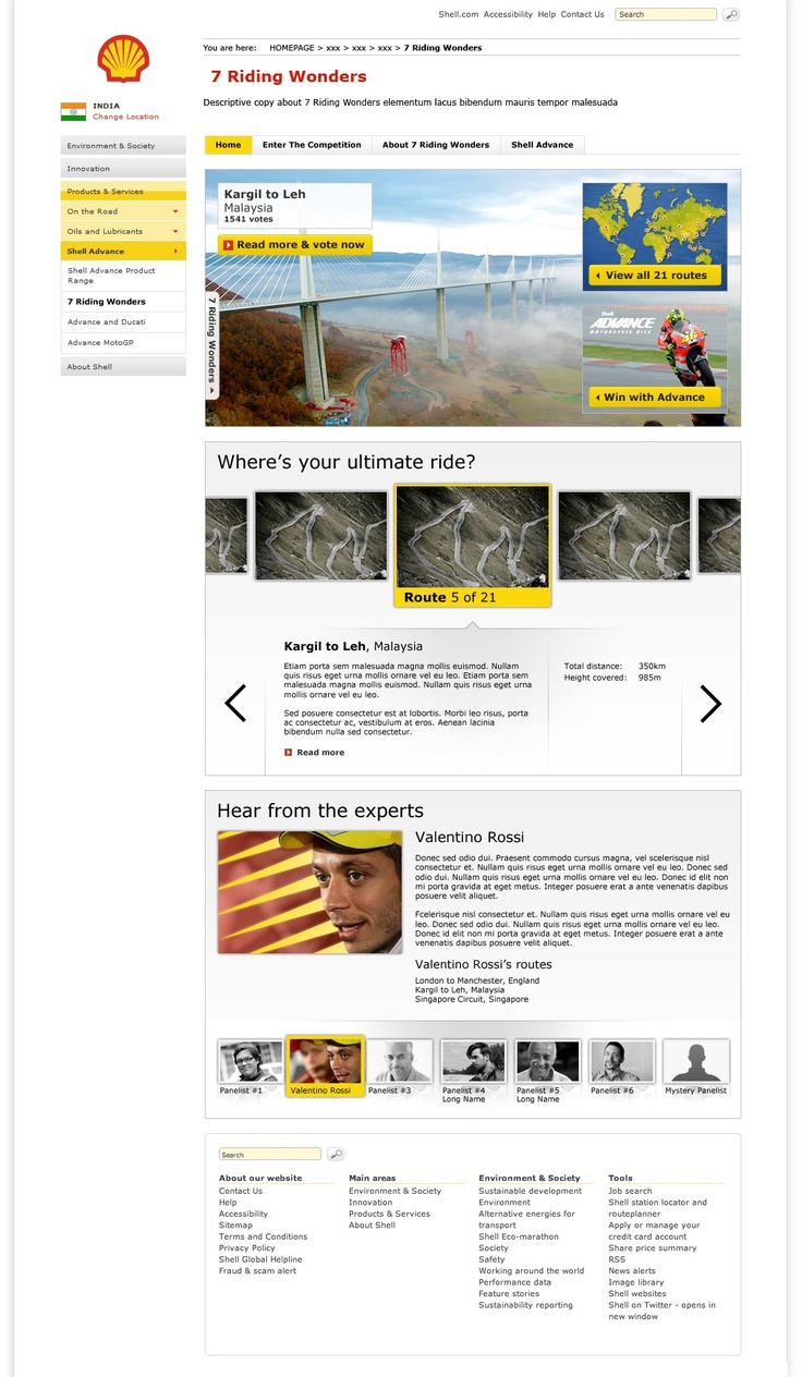 Shell - 7 Riding Wonders - Home page