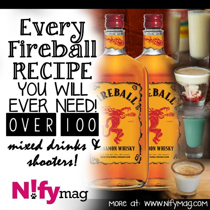 Every Fireball Recipe You Will Ever Need! Over 100 Mixed Drinks And Shooters! | Nifymag.com