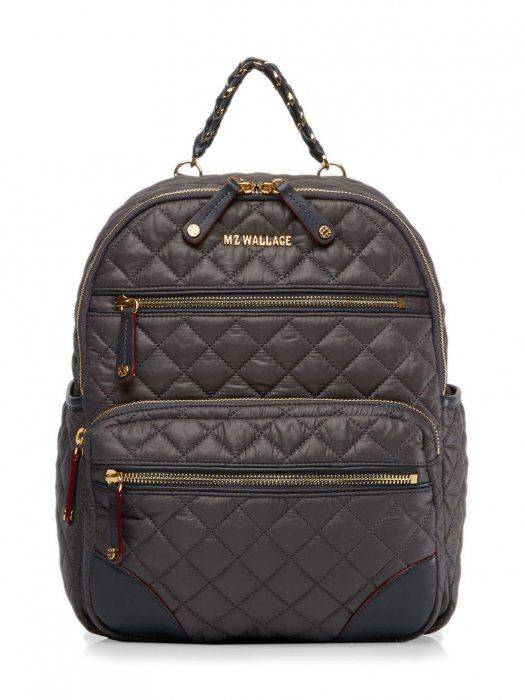 81f906063acf MZ Wallace Small Crosby Backpack in Magnet Oxford | Bag Lady ...