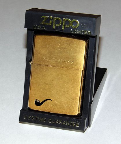 Vintage Zippo Pipe Lighter, Solid Brass.