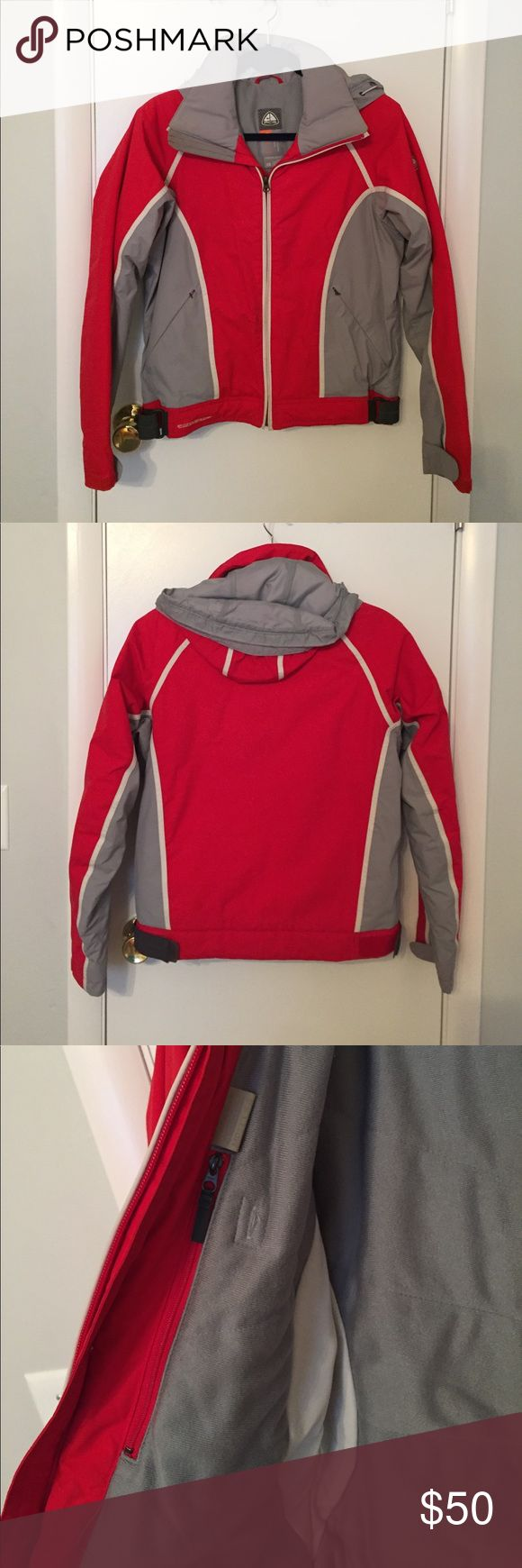 Nike ACG Winter Jacket Gentle worn Nike AGC red grey and white winter jacket with removable hood. Nike ACG Jackets & Coats