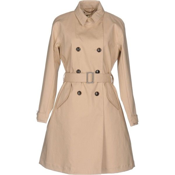 Giorgio Armani Overcoat ($805) ❤ liked on Polyvore featuring outerwear, coats, beige, over coat, double-breasted trench coats, beige coat, giorgio armani coat and long sleeve coat