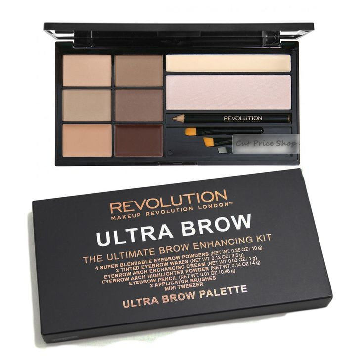Makeup Revolution Ultra Brow Palette  Eyebrow Enhancing Kit - Fair to Medium
