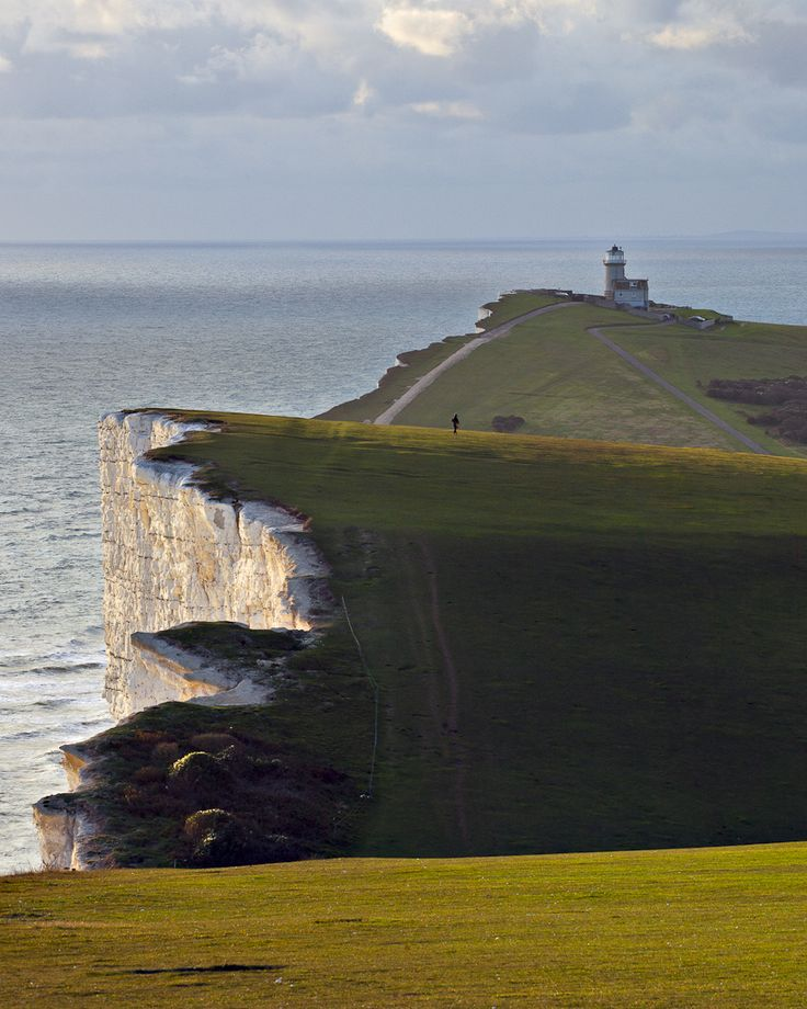 The lighthouse was moved back from the edge by 17 metres in 1999, as due to erosion it was in danger of falling into the sea. It's a bed and breakfast - you can go and stay there! It's called Belle Tout Lighthouse.