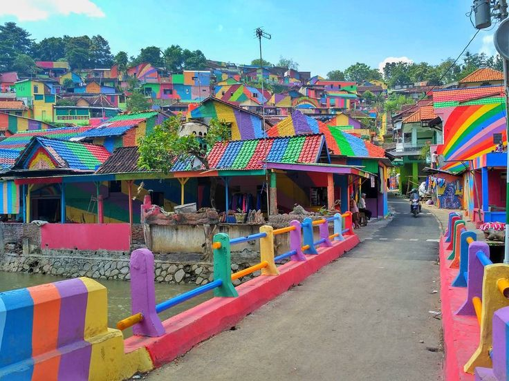 Travellers, There's a Rainbow Village in Indonesia and It's Kinda Magical