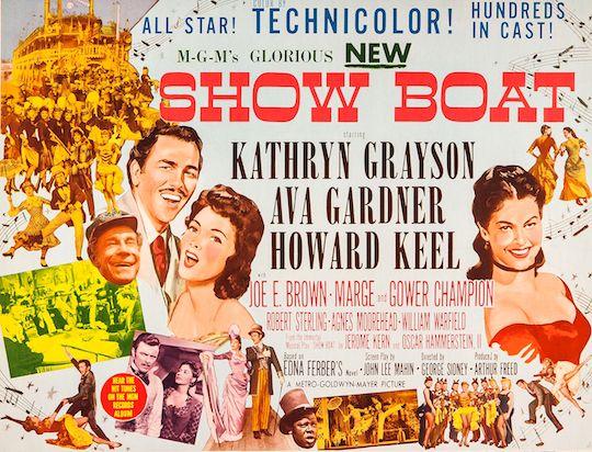 Show Boat (1951) movie based on the novel by Edna Ferber