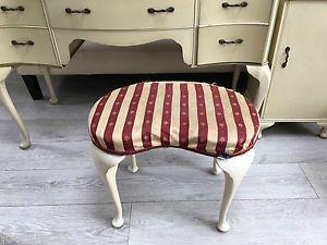 vintage cream dressing table stool | eBay
