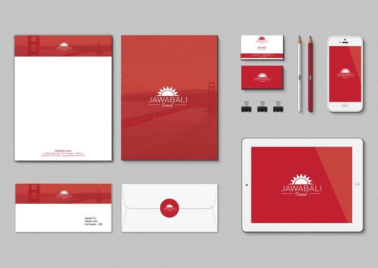 Design Stationery Set Jawabali Travel..