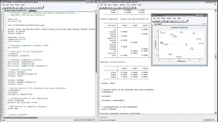 Principal Component Analysis and Factor Analysis in Stata