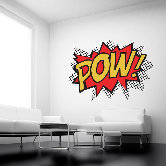 Pow Comic Wall Stickers   - Wall Sticker Decals quotes