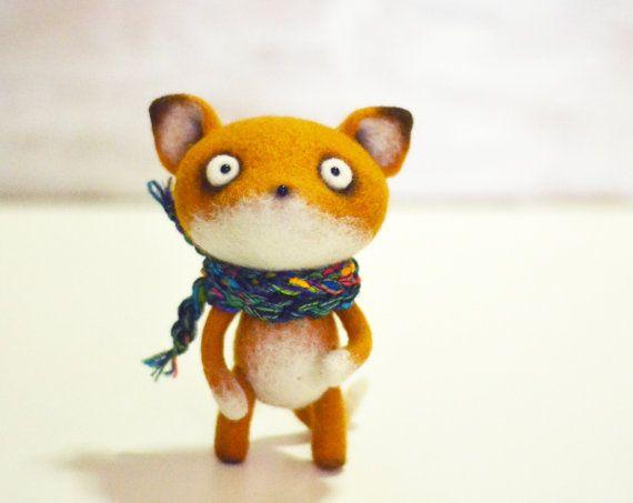 Handmade toys - Felt doll - Toy - Felt toys - Needle felting - Felt animal - Gifts for her - gifts for men - Fox - Toys - Personalised gifts