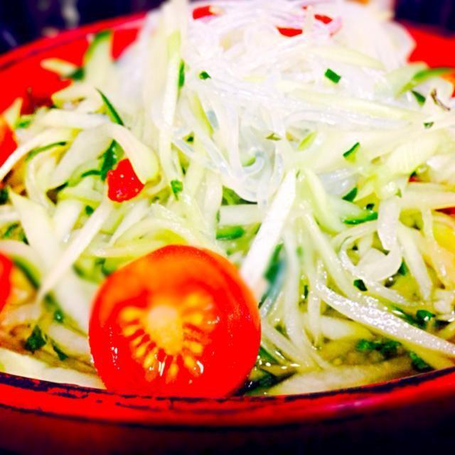 あっさり。ぱくぱく食べれます - 73件のもぐもぐ - タイ風〜青パパイヤのサラダ by qpchan