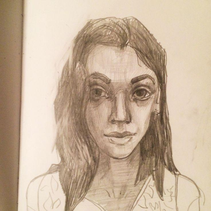 Набросок портрета #портрет #карандаш #drawing #sketch #sketchbook #portrat #mj #marinushkinaart #art #spb