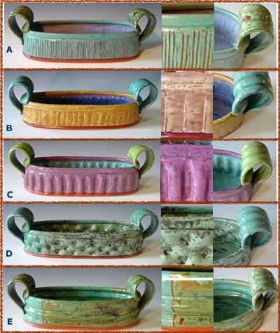 Flynn Clay Studio--neat handle idea. Also like the colors!
