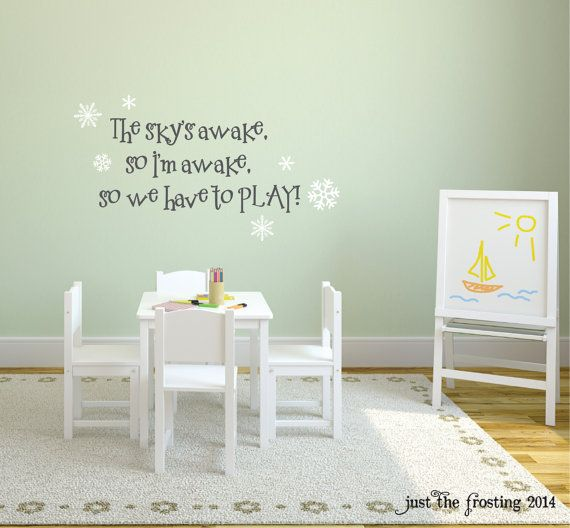 Frozen Wall Decal  The Sky's Awake So Let's by JustTheFrosting