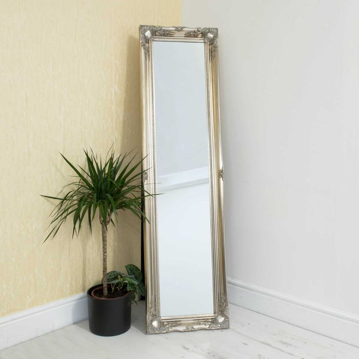 Westminster Antique Silver Free Standing Mirror 167x45cm – 829348760