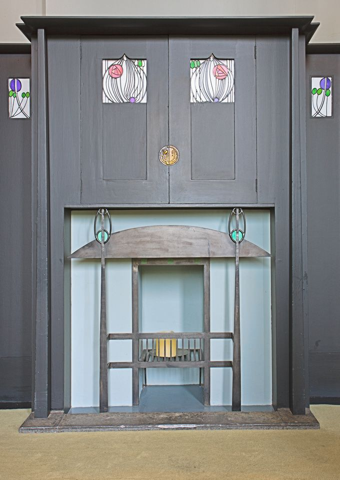 Fireplace at the Arts Lovers House by Mackintosh