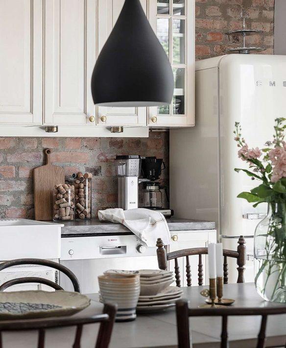 Cegla W Kuchni Czyli Prowansalska Kuchnia W Skandynawskim Mieszkaniu Home Decor Furniture Home