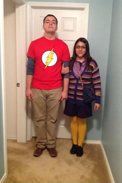 The 19 Best Couples Halloween Costumes of All Time | http://www.hercampus.com/entertainment/19-best-couples-halloween-costumes-all-time | Sheldon & Amy from The Big Bang Theory Costume