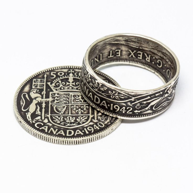 Coin Ring - Silver Canadian 50c